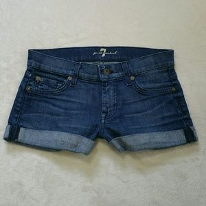 7 for all mankind denim Jean shorts
